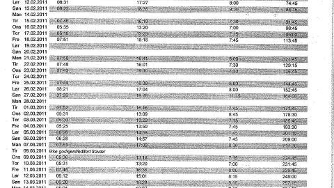 AVSL�RTE RENHOLDSGIGANTEN: November 2011 fikk Dagbladet 86 sider med stemplingslister, l�nnslipper og andre dokumenter for ansatte hos ISS. De viste at det ikke var samsvar mellom tida de ansatte jobbet, og hva de fikk utbetalt.