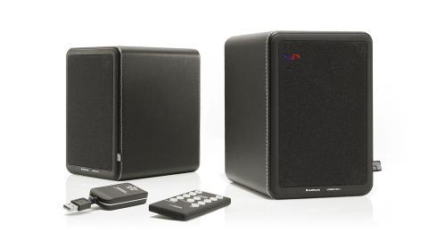 ENKELT: LV2e-h�yttalerne henter lyden tr�dl�st via Apples AirPlay-teknologi eller Audio Pros egen sender fra datamaskin, smarttelefon, nettbrett eller mer tradisjonelle lydkilder. Foto: Audio Pro
