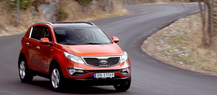 BILLIGMERKE: Kias modeller har en lav snittpris, og Sportage kan du f� med 2WD helt ned i 250 000 kroner. Foto: Egil Nordlien, HM Foto