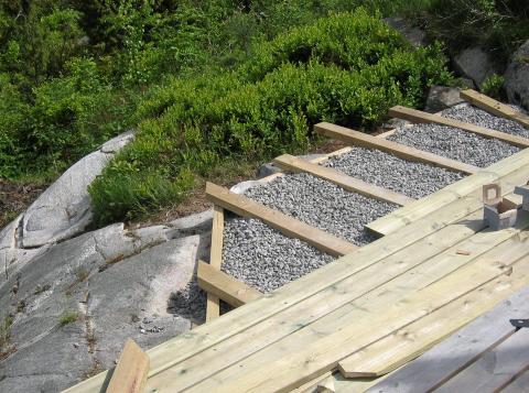 Bygge platting på fjell