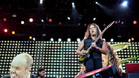 GOD FORM:  �Det er ikke mye � utsette formmessig�, skriver artikkelforfatteren. Her er Kirk Hammett. Foto: Nina Hansen / Dagbladet