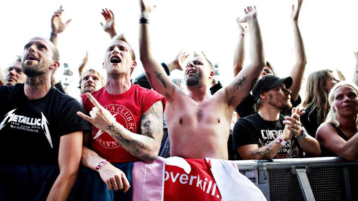 DISIPLER:  �40 000 ekstatiske disipler� hadde if�lge Dagbladet anmelder m�tt opp p� Metallica-konsert p� Valle Hovin i kveld. Foto: Nina Hansen / Dagbladet