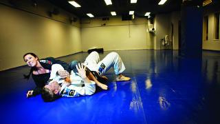 KONKURRERER: Neste uke skal Stine og Sebastian begge delta i VM i Brasiliansk Jiu Jitsu i Los Angeles. Foto: Anita Arntzen