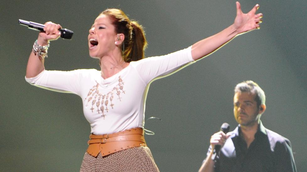 FINALEKLAR: Spanias Pastora Soler er finaleklar i Eurovision, men er usikker p� om det er riktig med en Eurovision-seier for Spania akkurat n�. Foto: Vyacheslav Oseledko / AFP Photo / NTB Scanpix