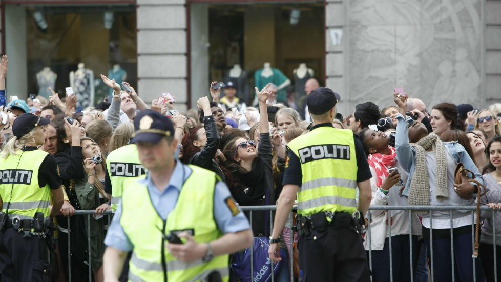 Kaos i Oslo Justin Bieber Bieber-kaos Ved Oslo s