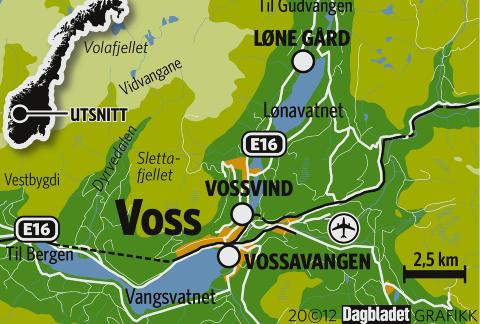 VOSS: Alle aktivitetene Voss er kjent for, ligger innenfor en mils omkrets. Dagbladet Grafikk: KJELL ERIK BERG