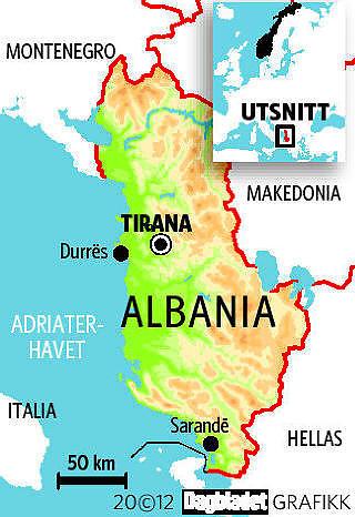 ALBANIA: Europas billigste ferieland.  GRAFIKK: KJELL ERIK BERG