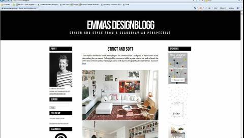 DREVEN I GAMET: Emmas Designblogg er en av de f�rste designbloggene som dukket opp i Skandinavia.  Foto: Emmas Designblogg