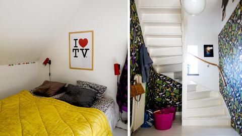 FARGESTERKE BOLIGER: Fargerike boliger er bare noe av det leserne kan nyte gjennom bloggen dosfamily.com.  Foto: dosfamily.com/Jenny Brandt