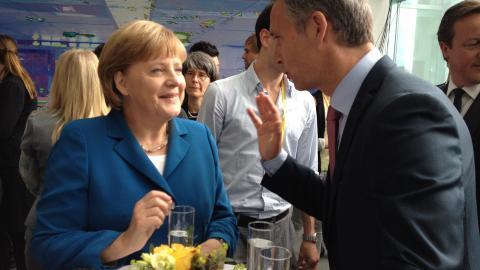 VENNER: Angela Merkel og Jens Stoltenberg har god kjemi. Foto: SMK