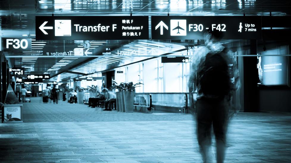 HELSEFARLIG: Bakteriene p� flyplassen kan gj�re deg syk. Illustrasjonsfoto: COLOURBOX