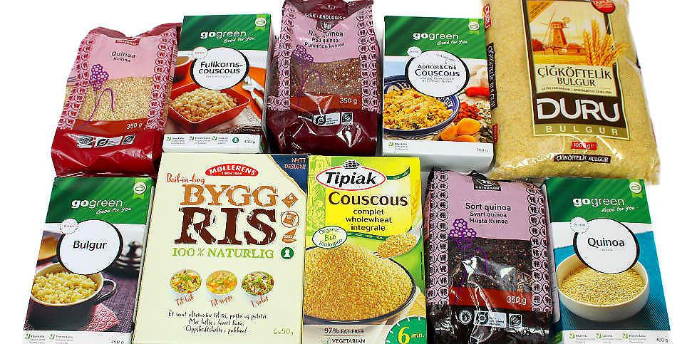 ALTERNATIVER TIL POTETER: Vi har testet quinoa, byggris, couscous og bulgur. Alle er fine  middagstilbeh�r, men hva er det sunneste valget? Foto: ERIK HELGENESET