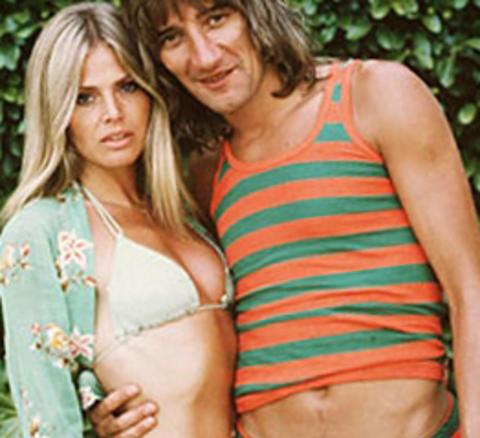 SMALT PAR: Bitt Ekland og Rod Steward fotografert p� 70-tallet. Foto: Plateselskapet