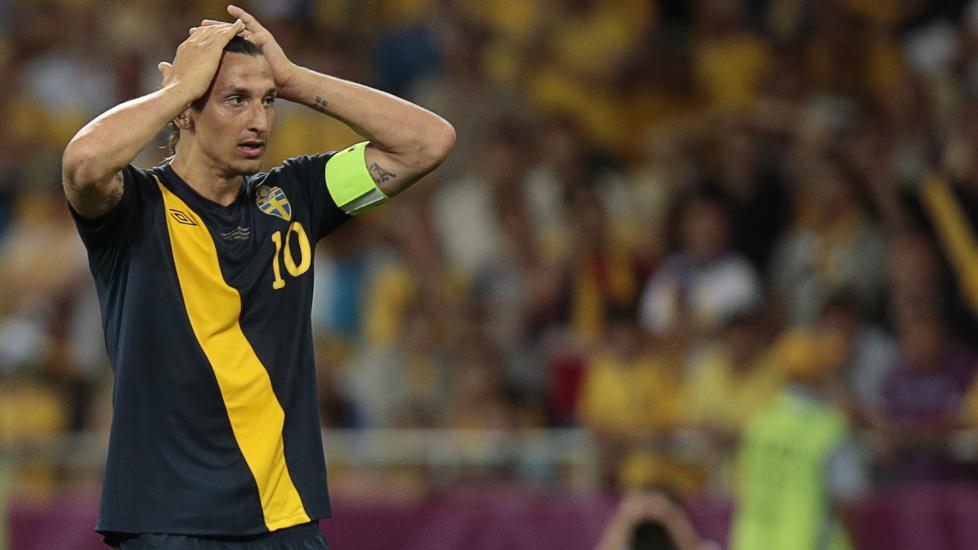 TAPTE: Zlatan Ibrahimovic menter Sverige burde vunnet kampen mot Ukraina. Foto: AP Photo/Ivan Sekretarev