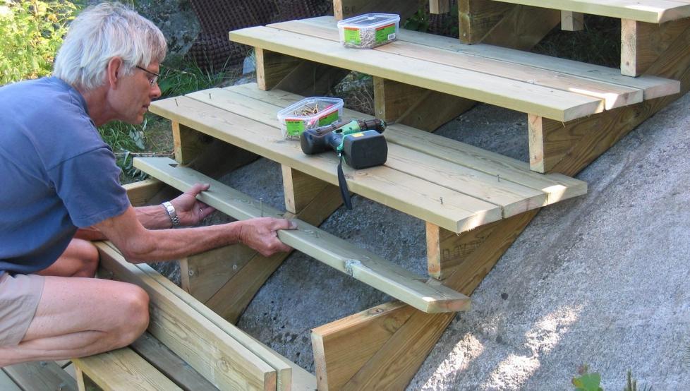 LETTVINT: Du trenger ikke være redd for å bygge trapp på egen hånd. Det er lettere enn du kanskje tror.  Alle foto: Dag Thorstensen
