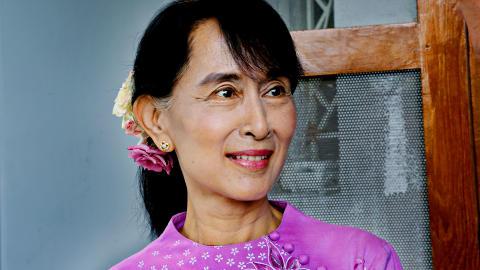 EKSKLUSIVT: Aung San Suu Kiy intervjuet av Dagbladet i sin villa i Yangoon. Foto: Jacques Hvistendahl