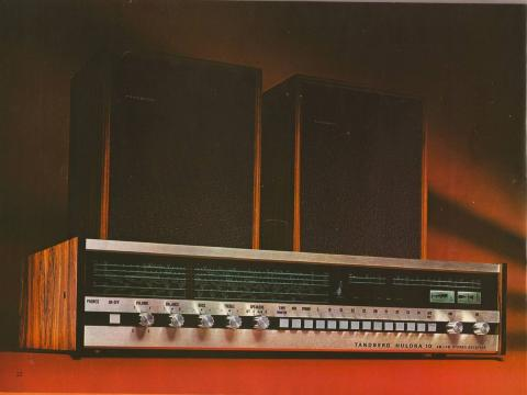 RETRO: Det klassiske Tandberg-designet g�r rett inn i v�r tids retrokultur og dyrking av skandinavisk formgiving. Her et bilde fra en annonse for den kombinerte radioen og forsterkeren Huldra 10.