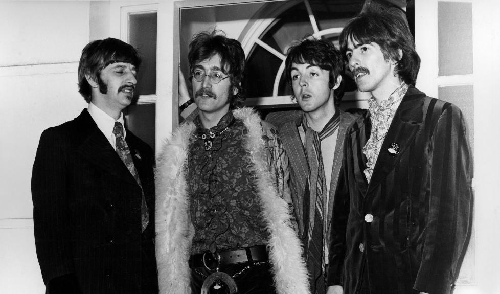 1967: The Beatles-stjernene Ringo Starr, John Lennon, Paul McCartney, George Harrison. Foto: Stella pictures