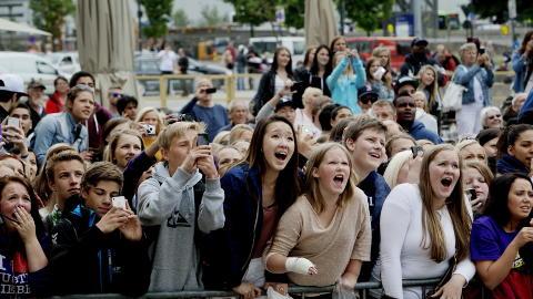 Kaos i Oslo Justin Bieber Kaos da Justin Bieber Besøkte