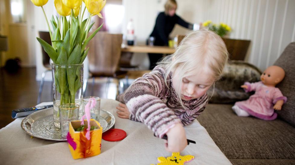Familielykke fanget i nettet. Illustrasjonsfoto: Sara Johannessen / NTB Scanpix