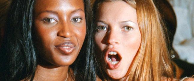 Kate Moss og Naomi Campbell fr 10 kroner for modelloppdrag