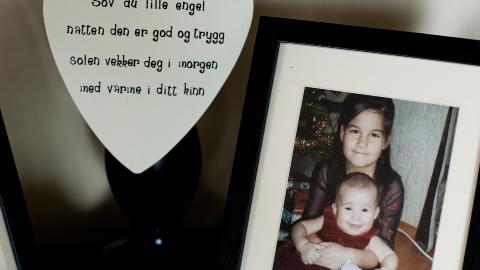 STORESØSTER: Sharidyn var den eldste i en søskenflokk på tre. De to yngstejentene i familien satte stor pris på søsteren sin. FOTO: BENJAMIN A. WARD / DAGBLADET