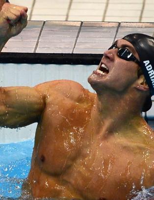 Amerikansk jubelkveld i OL-bassenget