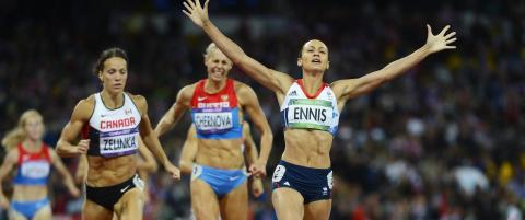 Ennis fikk taket til � l�fte seg p� Olympiastadion