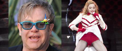 Elton John mener Madonna er en tivolistripper