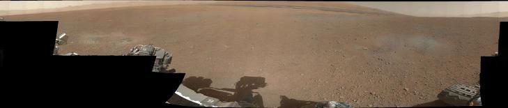 NYTT BLOD P� MARS: NASAs nye Mars-rover �Curiosity� leverte torsdag sitt f�rste panoramabilde i farger. Se hele bildet her. Foto: NASA/JPL-Caltech/MSSS