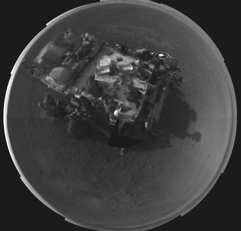 SELVPORTRETT: �Curiosity� har tatt et bilde av seg selv p� Mars. Foto: AFP PHOTO / NASA / JPL-Caltech / NTB Scanpix