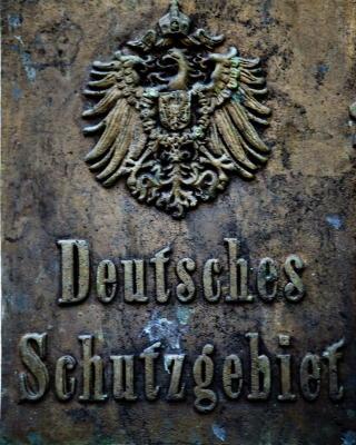 Var tysk koloni: De tyske turistene hos jaktbonde Achim von Hacht blir minnet p� at dette en gang var tysk jord.