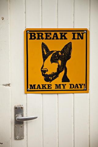 Vokt dem for hunden: Tysknamibierne f�ler seg ikke trygge uten sikkerhetstiltak.