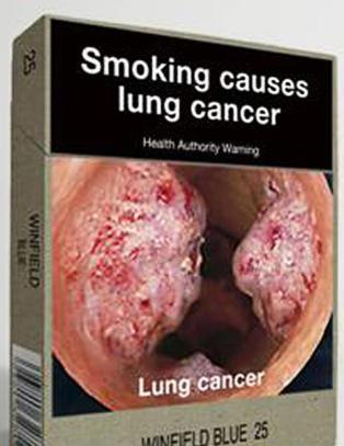 Australske sigarettpakker blir like