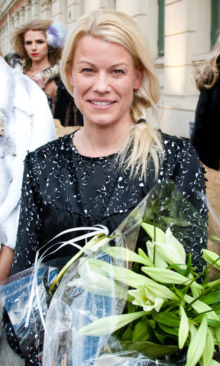 - INGEN LIKHETER: Tina Steffenakk Hermansen, som designer under initialene TSH, sier at det ikke finnes sammenhenger mellom hennes og Hafzis kjoler. Foto: Stella Pictures