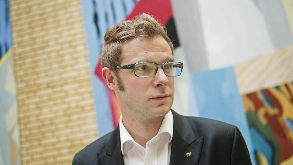 PROVOSERT: SVs Snorre Valen er lite imponert av det f�rste utspillet til Kristin Skogen Lund som NHO-direkt�r. Foto: Fredrik Varfjell / Scanpix