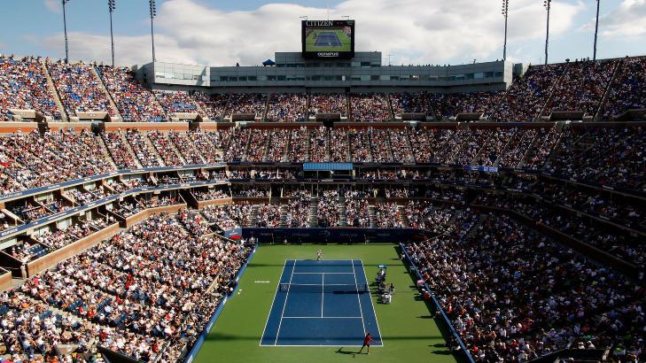 Starter til uka tennisturneringen us open i new york foto jared