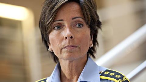 ORIENTERTE: Politiinspektør Hanne Kristin Rohde fortalte at politiet i møtet med familien skulle orientere om etterforskningen. Foto: Anette Karlsen / NTB scanpix