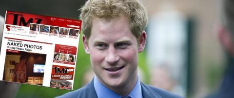 Slottet pr�ver � stanse spredning av prins Harrys nakne rumpe