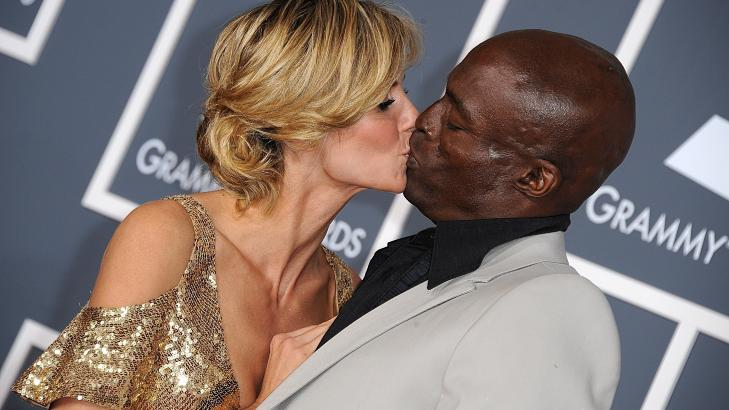 LYKKELIGE DAGER: Den tyske supermodellen Heidi Klum (39) og Seal (49) var gift i sju �r - f�r ekteskapet tok slutt tidligere i �r. Foto: Stella Pictures