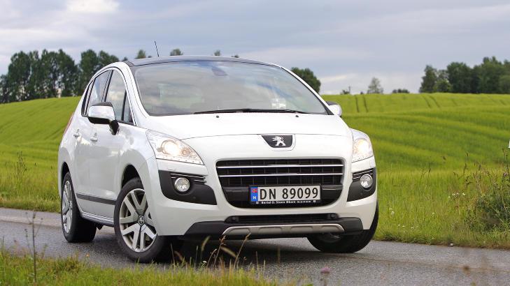 DIESELHYBRID: Peugeot 3008 HYbrid4. Foto: Petter Handeland