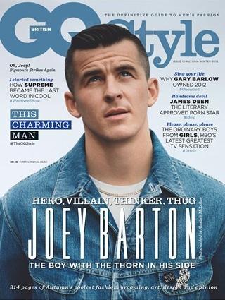 MOTEIKON: Hissigproppen Joey Barton pryder forsiden av h�st- og vinterutgaven av motemagasinet GQ Style. Faksimile: GQ