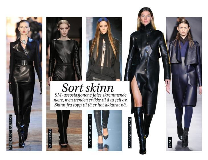SKINN: Skinn er trendy, men unng� for trange plagg. Foto: James Cochrane