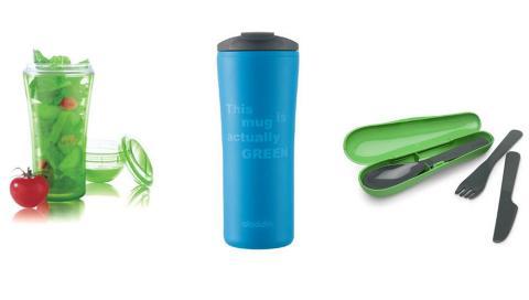I FARTA: Produkter for folk i farta gj�r seg p� hylla hjemme hos deg n�.  Produktene er i energifylte farger, akkurat som sport- og helsetrenden i interi�ret sier.  Foto: Produsentene