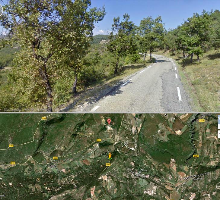 IKKE AKKURAT I�YNEFALLENDE: Dette kartet viser posisjonen der fotografen som knipset Kate skal ha st�tt. Den halvnakne hertuginnen var ikke alt for lett � f� �ye p�. Kart: Google Maps
