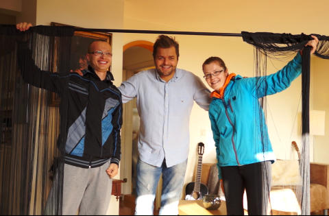 INTERI�R: Dette paret fikk ei gardinstang. Foto: NORSK TIPPING