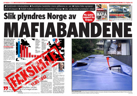 DAGBLADET: Faksimile av papirutgaven 17. september 2012. det var dette oppslaget dom fikk Frp-leder Siv Jensen til � reagere.