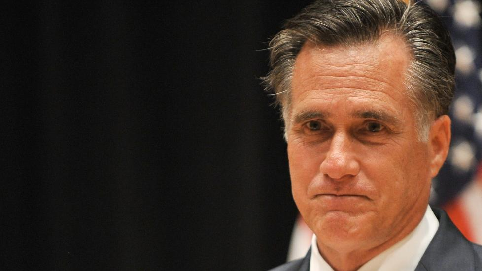 FORSNAKKET SEG: Den amerikanske presidentkandidaten for republikanerne, Mitt Romney. Foto: Nicholas Kamm / AFP Photo