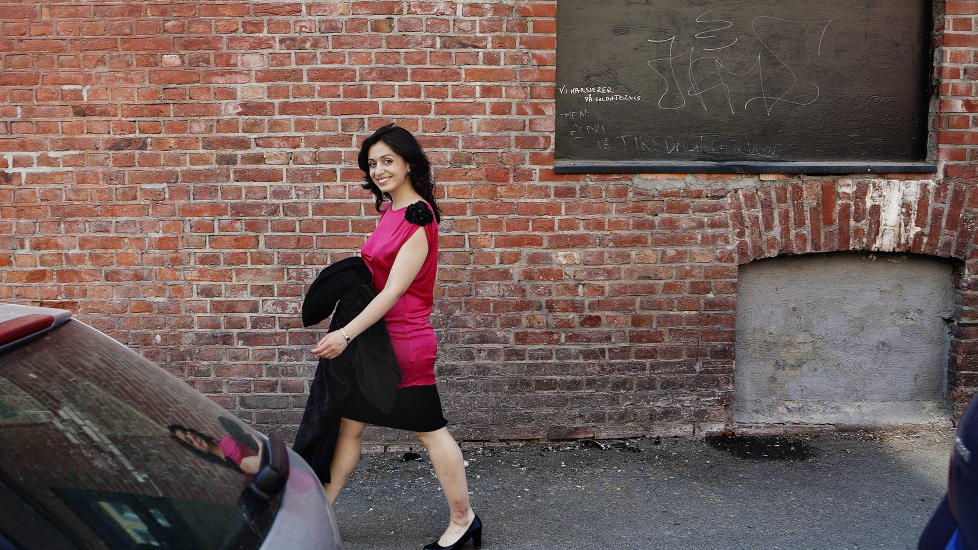 P� VEI INN: Nyutnevnt kulturminister Hadia Tajik fra Arbeiderpartiet, fotografert i sommer. Foto: Jo Straube