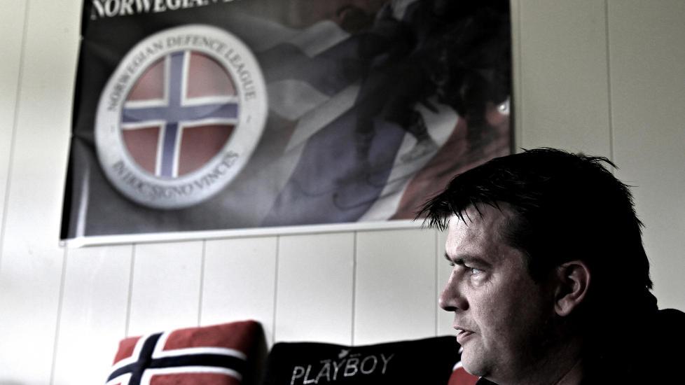 OPPRETTET UT�YA-ST�TTEGRUPPE: Tidligere leder for Norwegian defence League (NDL), Ronny Alte sier han engasjerer seg for de etterlatte etter 22. juli, og at dette er bakgrunnen for at han har opprettet Facebook-gruppa �Vi som st�tter opprettelsen av et fredssenter p� Ut�ya�. Foto: Bj�rn-Owe Holmberg Mottatt fra epost: 27.04.2012